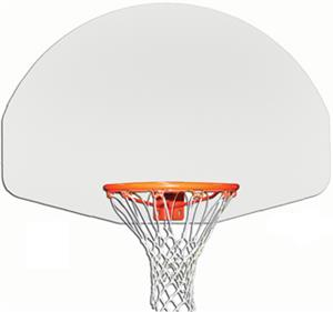 "Gared 1750 54"" Aluminum Fan-Shaped Backboards"