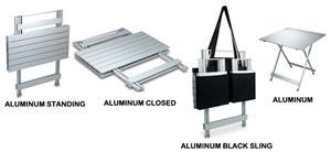 Picnic Time Portable Folding Aluminum Travel Table