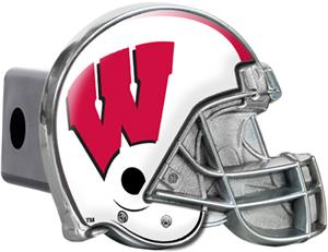 NCAA Wisconsin Badgers Helmet Trailer Hitch Cover