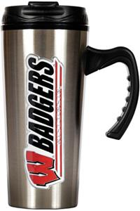 NCAA Wisconsin Badgers 16oz Travel Mug