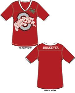 Ohio State Buckeyes Jersey Color Tunic