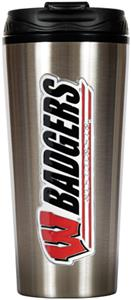NCAA Wisconsin Badgers 16oz Travel Tumbler