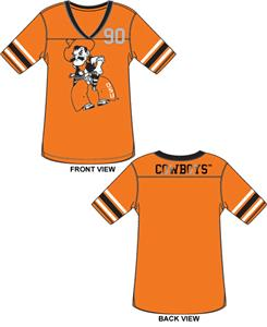 Oklahoma State Cowboys Jersey Color Tunic