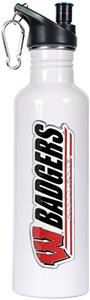 NCAA Wisconsin Badgers White Water Bottle