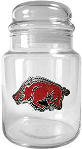NCAA Arkansas Razorbacks Glass Candy Jar