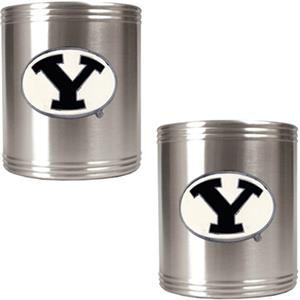 NCAA Brigham Young Stainless Steel Can Holders