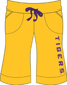 Emerson Street LSU Tigers Womens Bermuda Shorts