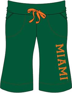 Miami Hurricanes Womens Bermuda Shorts