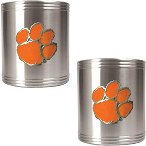 NCAA Clemson Tigers Stainless Steel Can Holders