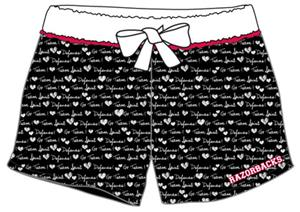 Arkansas Razorback Women French Terry Print Shorts
