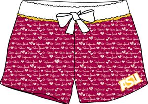 Arizona State Women French Terry Print Shorts
