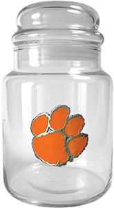 NCAA Clemson Tigers Glass Candy Jar