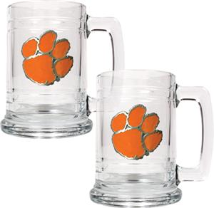 NCAA Clemson Tigers 15oz Glass Tankard