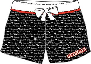 Georgia Bulldogs Women French Terry Print Shorts