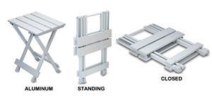Picnic Time Portable Aluminum Seat/Side Table