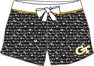 Georgia Tech Women French Terry Print Shorts