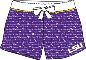 LSU Tigers Womens French Terry Print Shorts