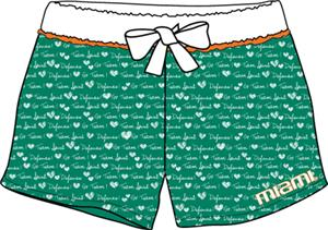 Miami Hurricanes Womens French Terry Print Shorts