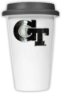 NCAA Georgia Tech Ceramic Cup w/Black Lid