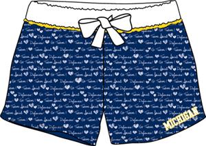 Michigan Womens French Terry Print Shorts