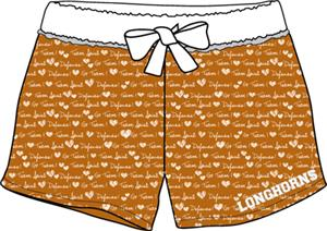 Texas Longhorns Womens French Terry Print Shorts