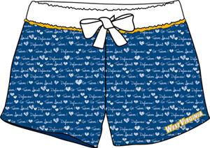 West Virginia Womens French Terry Print Shorts
