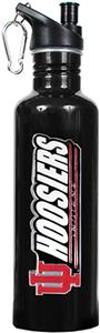 NCAA Indiana Hoosiers Black Water Bottle