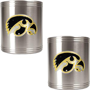 NCAA Iowa Hawkeyes Stainless Steel Can Holders