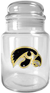 NCAA Iowa Hawkeyes Glass Candy Jar