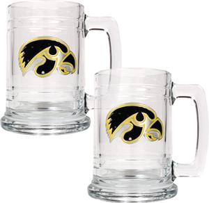 NCAA Iowa Hawkeyes 15oz Glass Tankard