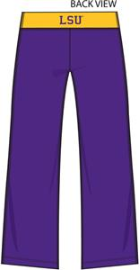 LSU Tigers Womens Crop Yoga Pants