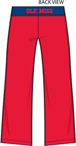 Ole Mississippi Womens Crop Yoga Pants