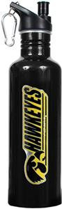 NCAA Iowa Hawkeyes Black Water Bottle