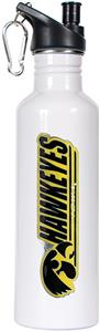 NCAA Iowa Hawkeyes White Water Bottle