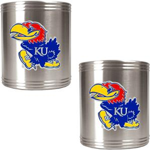 NCAA Kansas Jayhawks Stainless Steel Can Holders