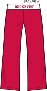 Ohio State Buckeyes Womens Crop Yoga Pants