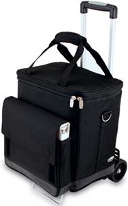 Picnic Time Cellar 6-Bottle Wine Carrier &amp; Trolley