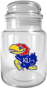 NCAA Kansas Jayhawks Glass Candy Jar