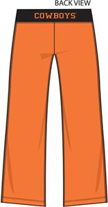 Oklahoma State Cowboys Womens Crop Yoga Pants
