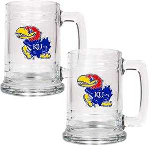 NCAA Kansas Jayhawks 15oz Glass Tankard