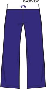 Texas Christian TCU Womens Crop Yoga Pants