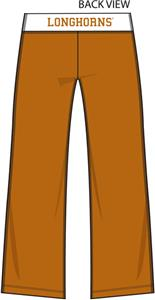 Texas Longhorns Womens Crop Yoga Pants