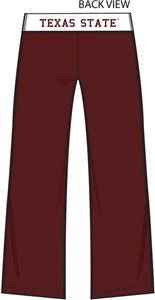 Texas State Womens Crop Yoga Pants