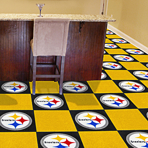 fan mats nfl pittsburgh steelers carpet tiles - fan gear