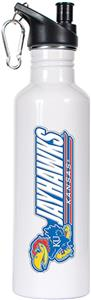 NCAA Kansas Jayhawks White Water Bottle