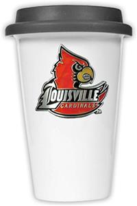 NCAA Louisville Cardinals Ceramic Cup w/Black Lid