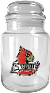 NCAA Louisville Cardinals Glass Candy Jar