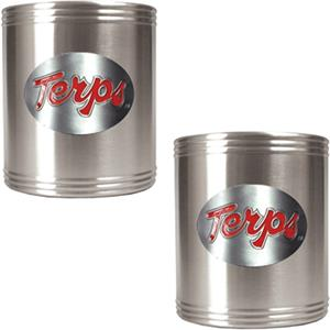 NCAA Maryland Stainless Steel Can Holders