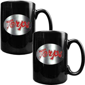 NCAA Maryland Black Ceramic Mug (Set of 2)