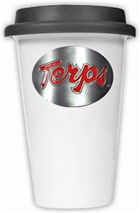 NCAA Maryland Terrapins Ceramic Cup w/Black Lid